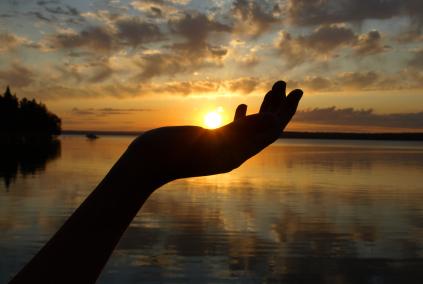 Hand Sunset